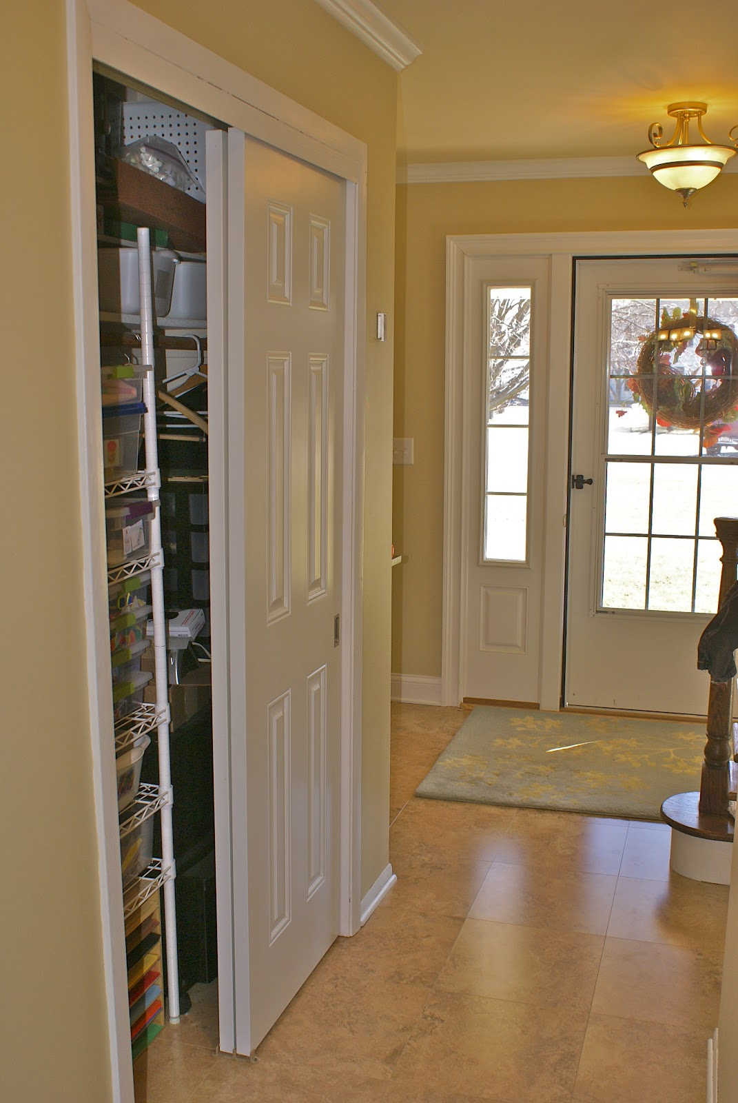 Front Foyer Closet Doors : What did we do all day art closet