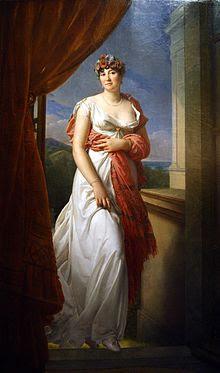 Este es quizas, el cuadro más famoso de Teresa Cabarrus. Lo realizó Francois Baron Gerard. Teresa tenía 31 años y su influencia en la Corte de Napoleón había empezado a declinar.