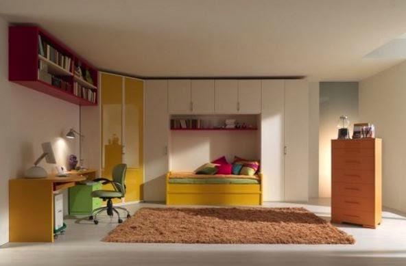 Jugendliche Minimalist Schlafzimmer Entwurf