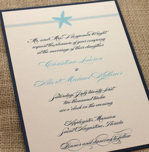 New Beach Wedding Invitation Suite