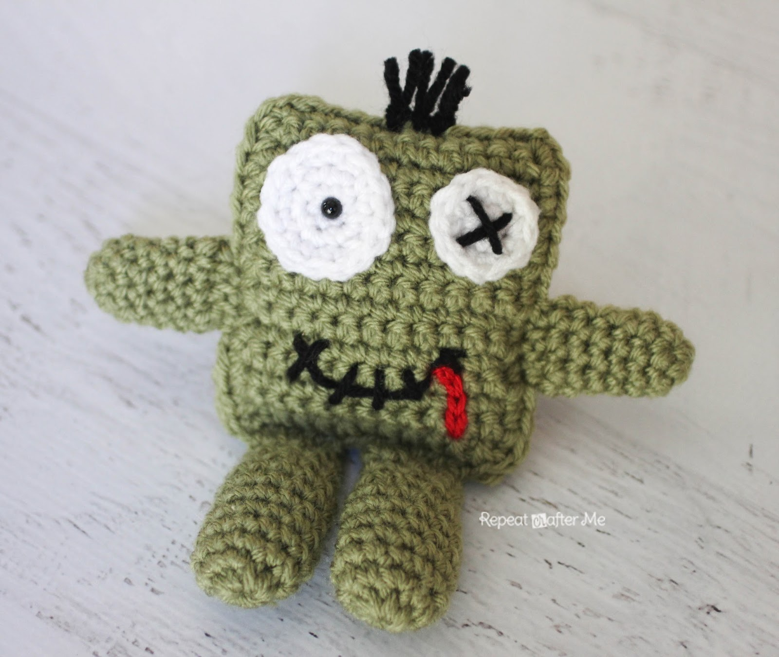 Crochet Pattern Zombie Doll : Repeat Crafter Me: Friendly Crochet Zombie Doll