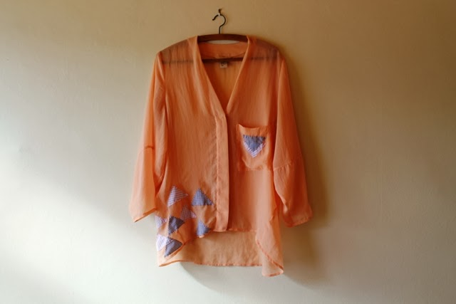 Upcycled blouse