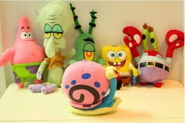 Jual boneka SpongeBob lucu.