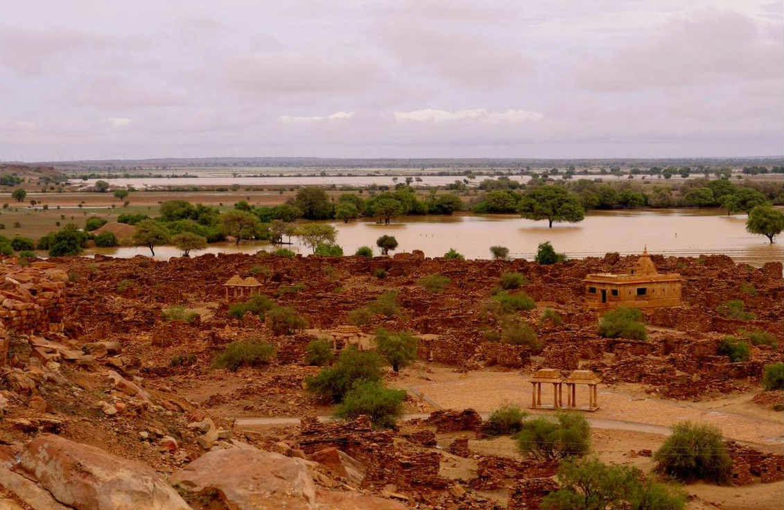 Ruins of Kuldhara in monsoons