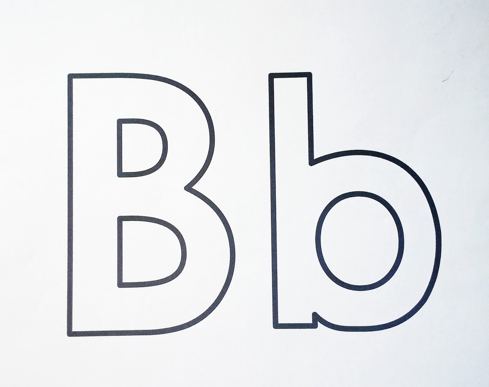 It is a graphic of Lucrative Letter B Printable