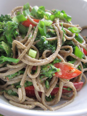 Peanut Noodles with Broccoli and Peppers