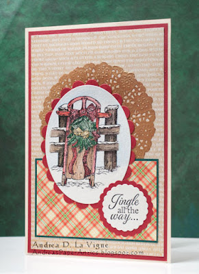 Our Daily Bread designs Let It Snow, ODBD Customer Card of the Day Created By Andrea La Vigne