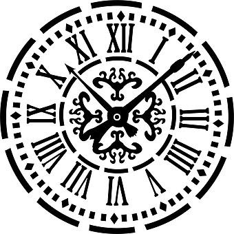 Pyes Pa Villa Design Vintage Clock Face Stencil