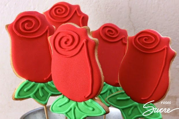 galetes decorades rosa, galletas decoradas rosa, galetes per sant jordi, galletas para sant jordi, galletas decoradas flor, galetes decorades flor