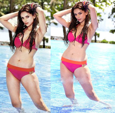 Aditi Rao Hydari Hot Bikini Stills in Boss Movie