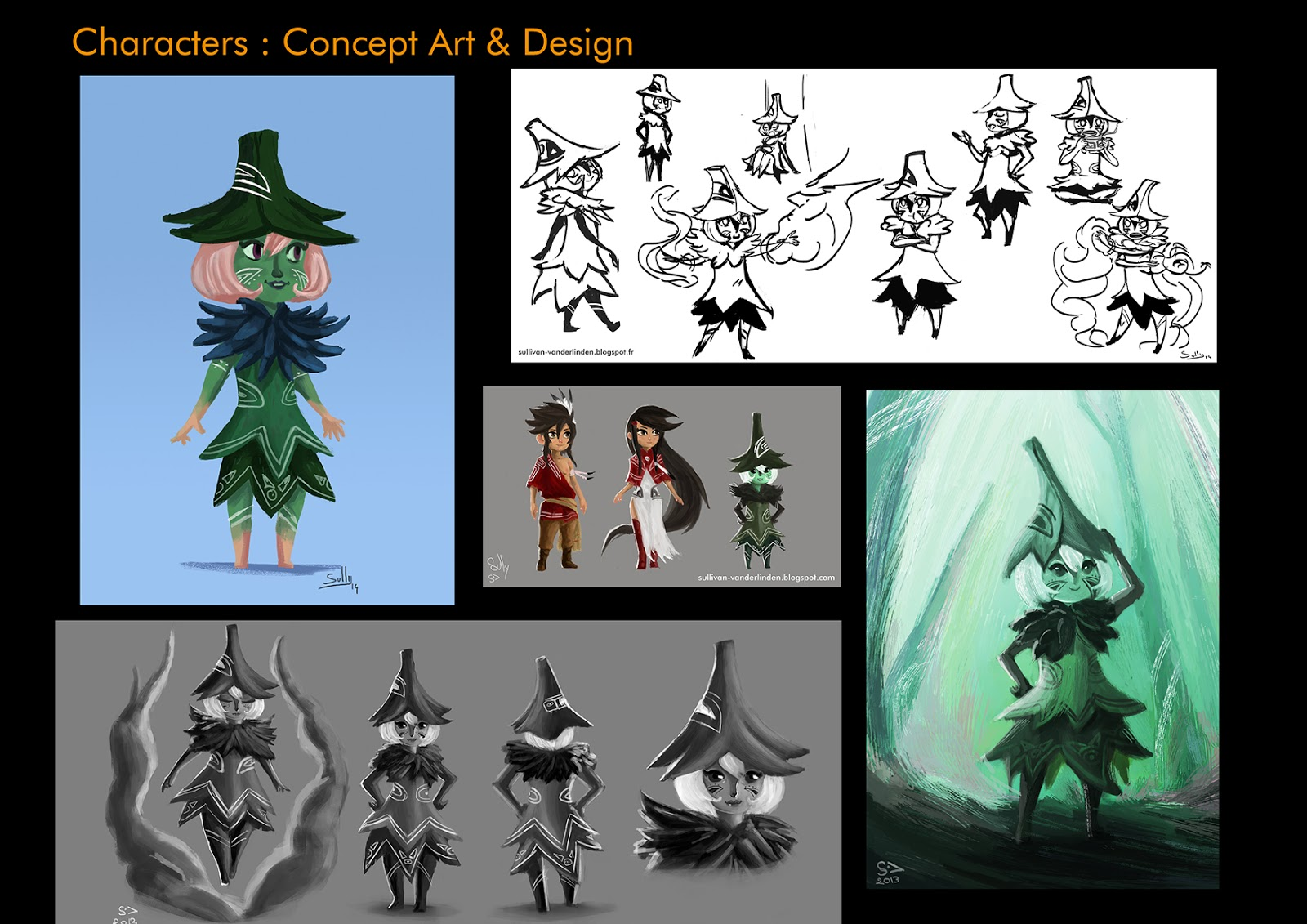 Sullivan vanderlinden portfolio character design