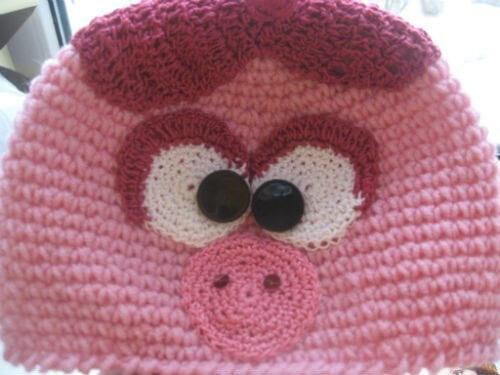 armado de cara de gorro crochet