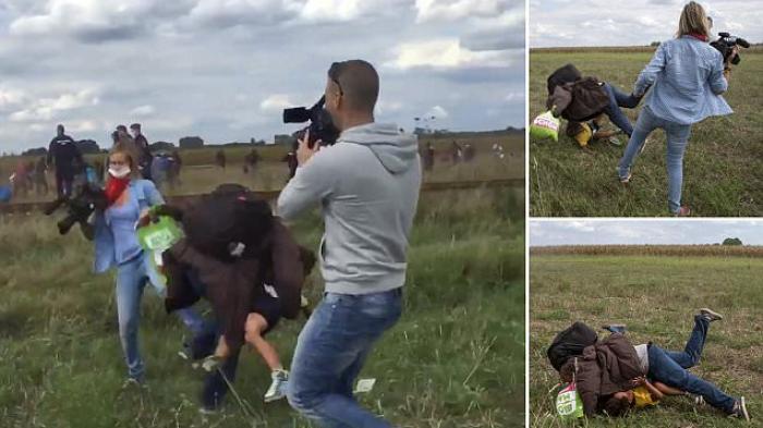 Kamerawati Menendang Dan Menjegal Kakek Pengunsi Suriah Sampai Terjatuh