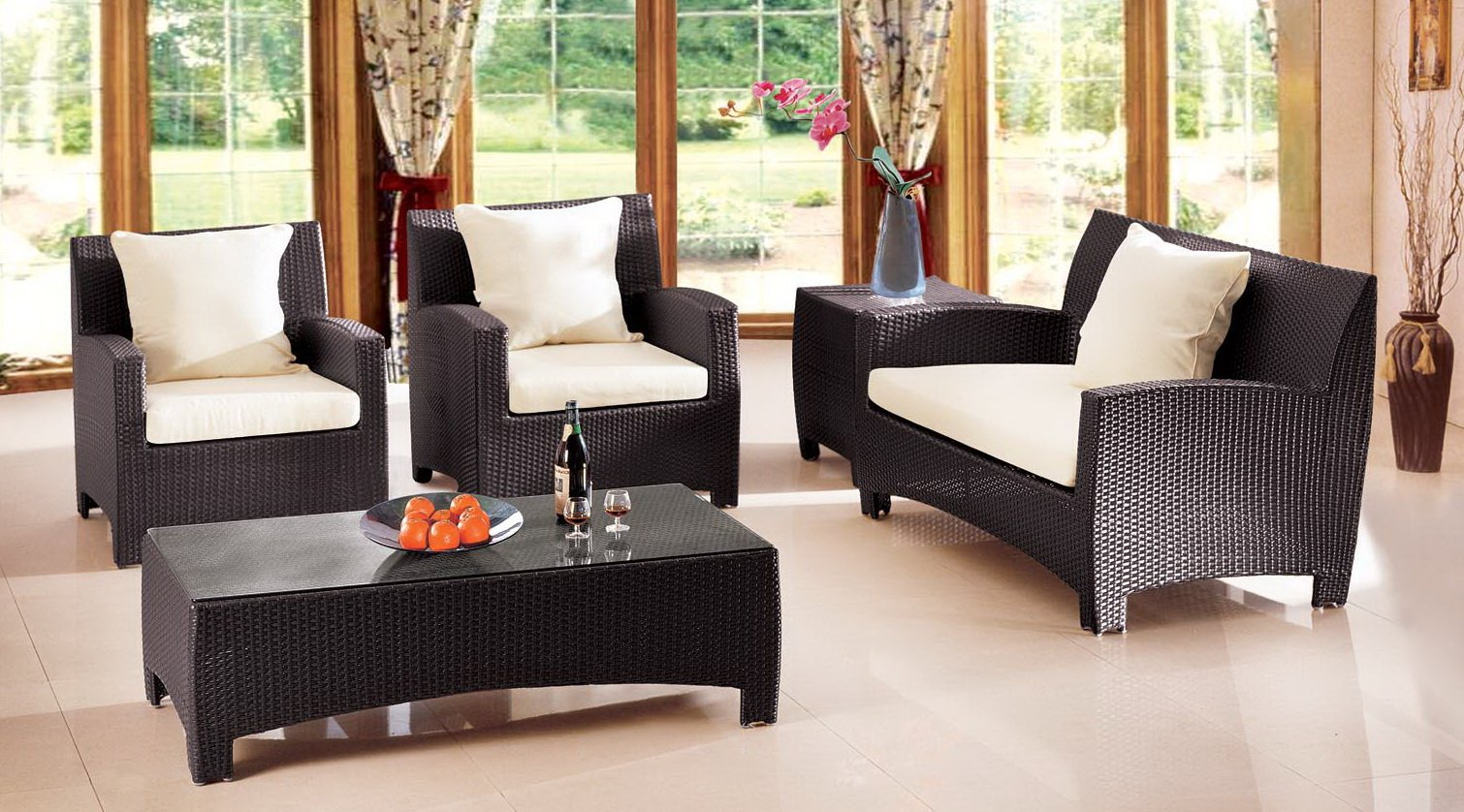 Wicker Living Room Furniture Pe Rattan All Weather Rattan Furniture Rnb Rattan N Basket