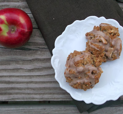 apple walnut and oat scones