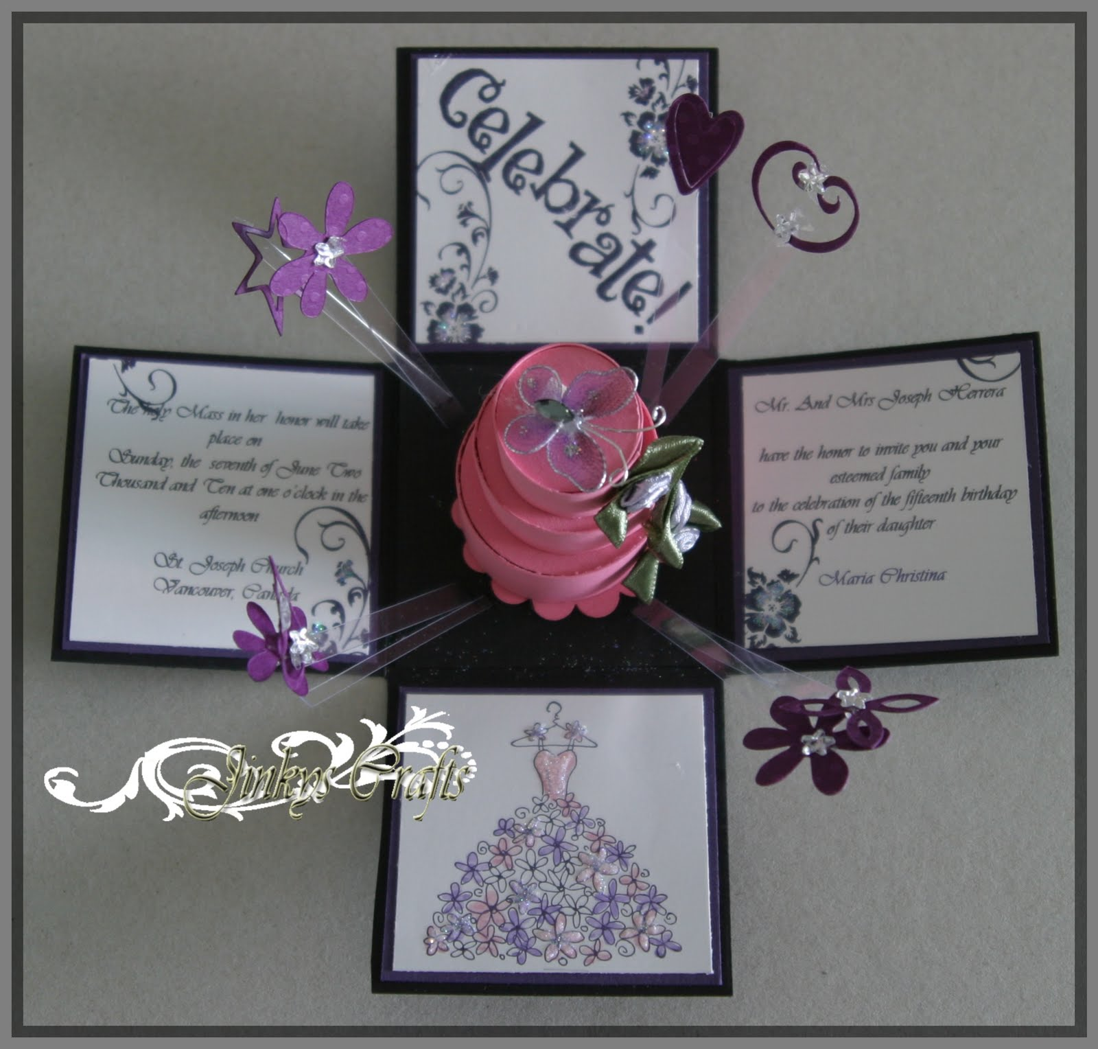 Jinky S Crafts Amp Designs Valentine Exploding Box And Card