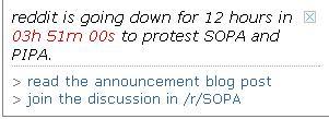 Reddit down SOPA