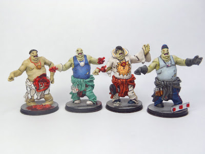 Zombicide, Zombie, Fatty, Fatties, all painted, painted, conversion
