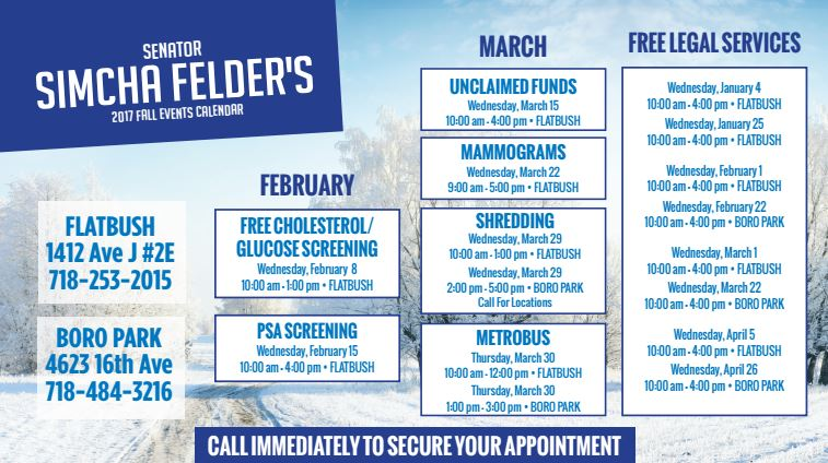 Simcha Felder's FREE Services