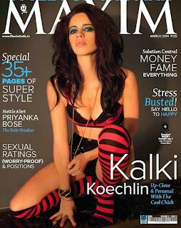 Kalki Koechlin Spicy pics from Maxim magazine