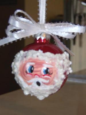 Santa bulb ornaments 1