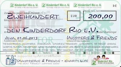"""Scheck für den Verein """"Kinderdorf Rio e.V."""""""