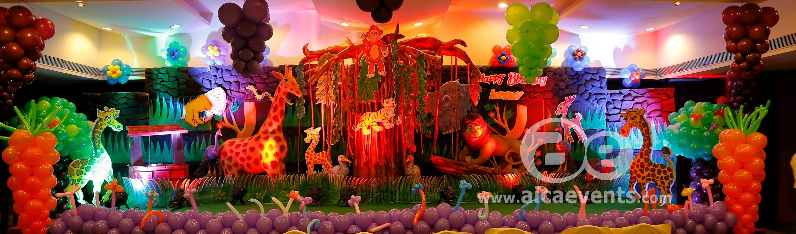 Aicaevents India: Jungle Theme Birthday party Decorations