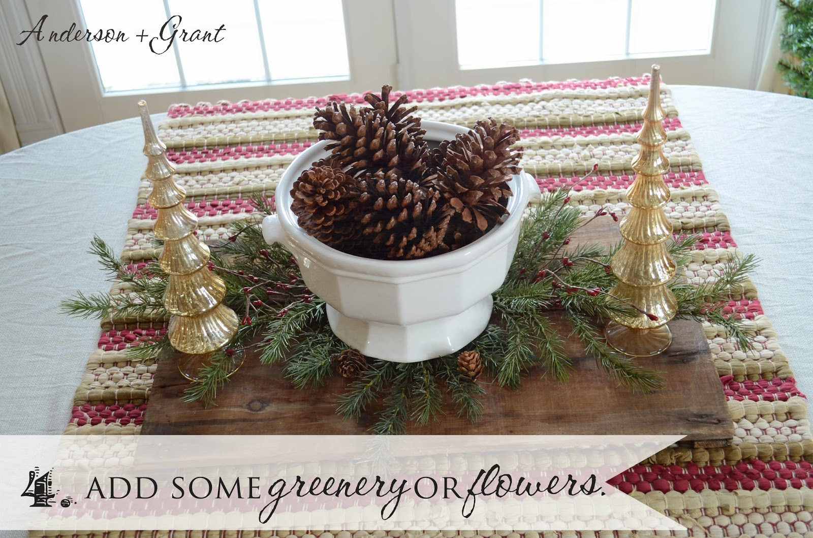 Add Some Greenery Or Flowers