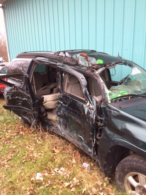 Wrecked junk car Indianapolis