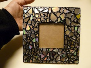 frame, mosaic, paint, cds