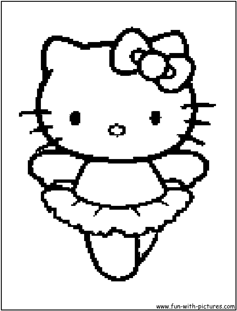 Hello Kitty Gymnastics Coloring Pages : Free coloring pages of leotard