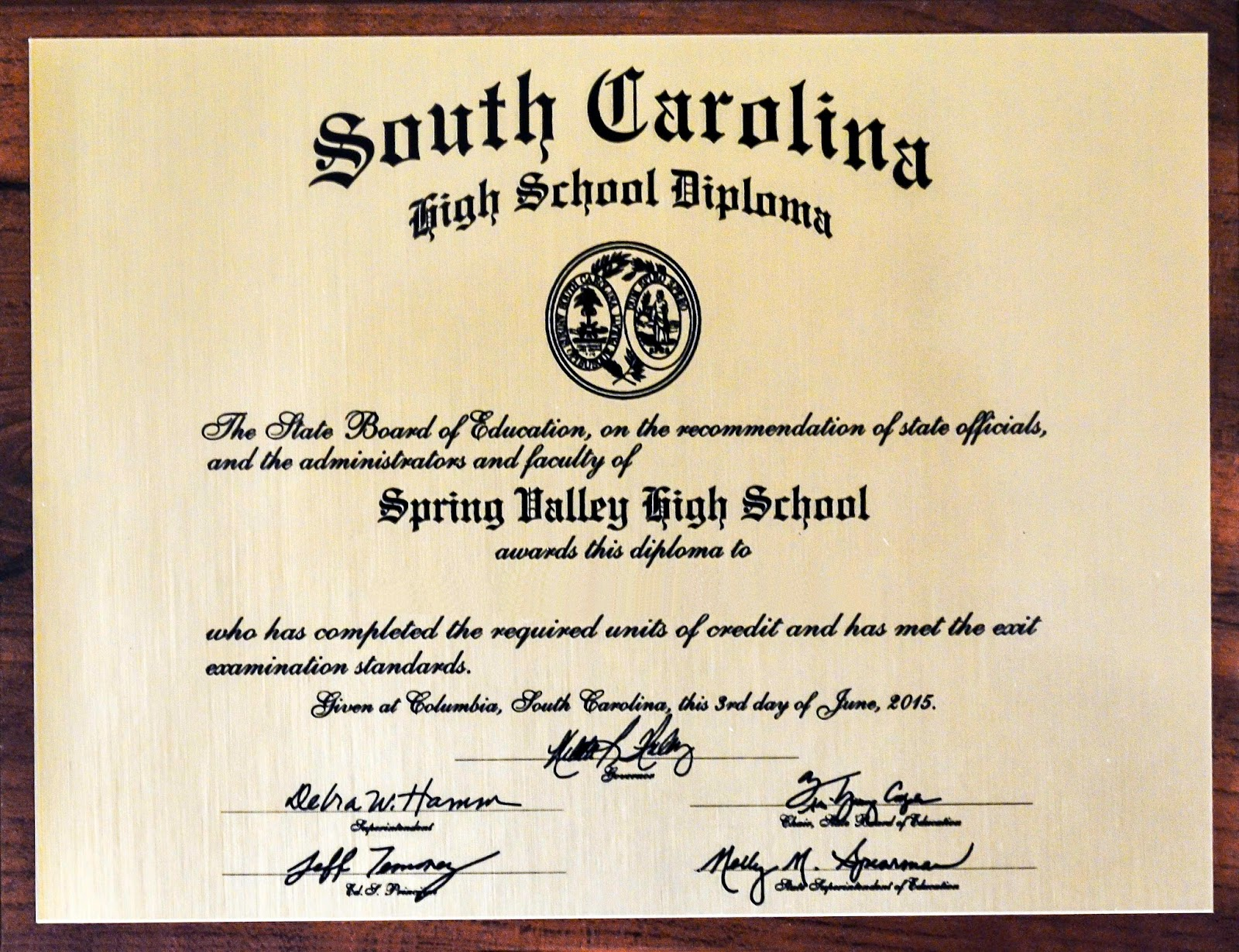Viking Update: Diploma Plaques Are Available for Pick Up