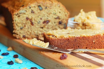 Maple Zucchini Nut Bread @www.thesweetchick.com