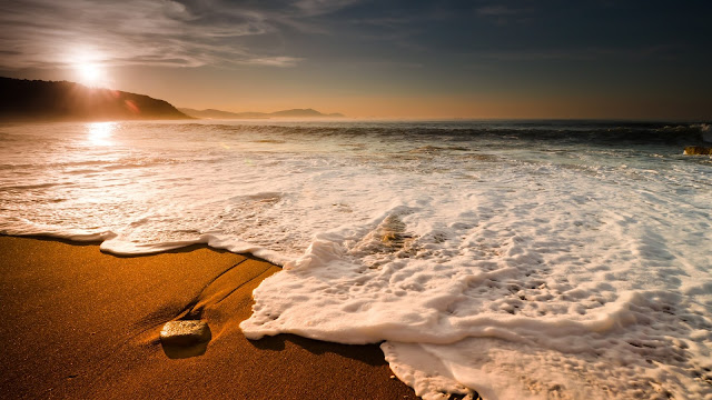 Beach Sun Waves