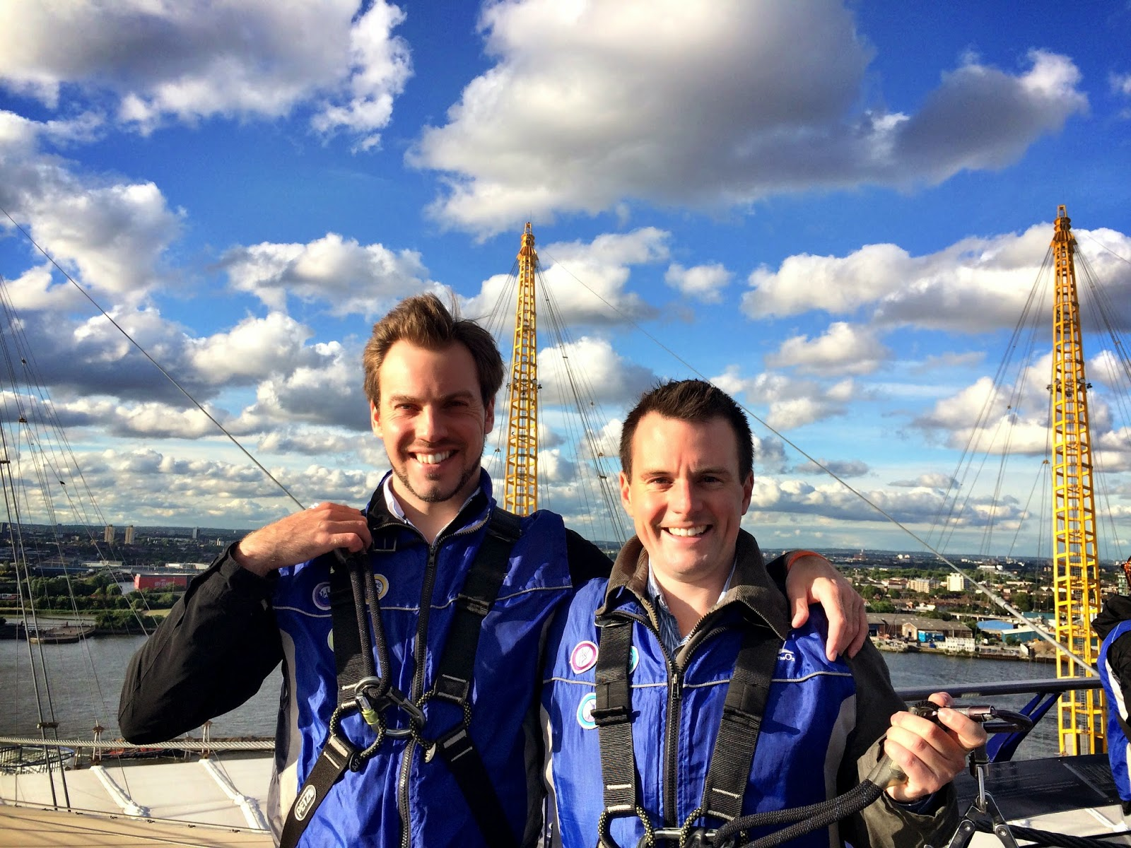 Simon and Mark on the O2 Arena viewing platform