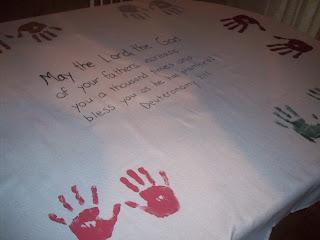 How to Make a Keepsake / Family Heirloom Tablecloth!