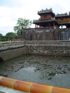 Pond with lotus flowers. Forbidden City of Hue