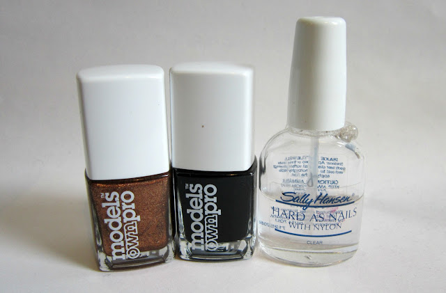 models own pro nail varnish kiss my brass jack's black sally hansen hard as nails