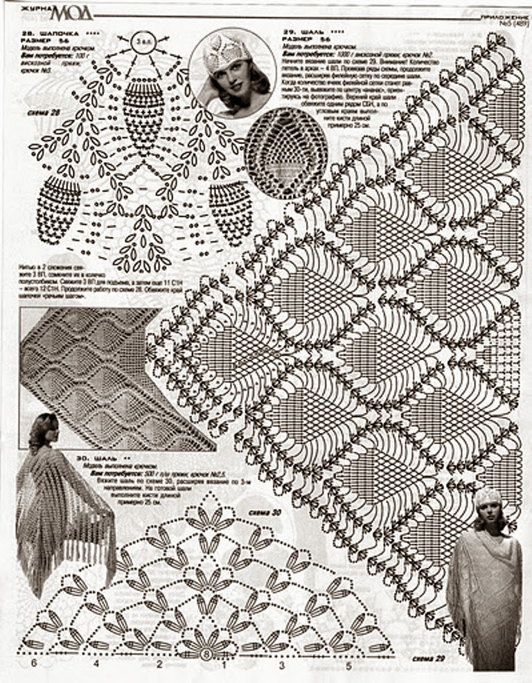 Excepcional Piña Patrón De Crochet Chal Ilustración - Manta de Tejer ...