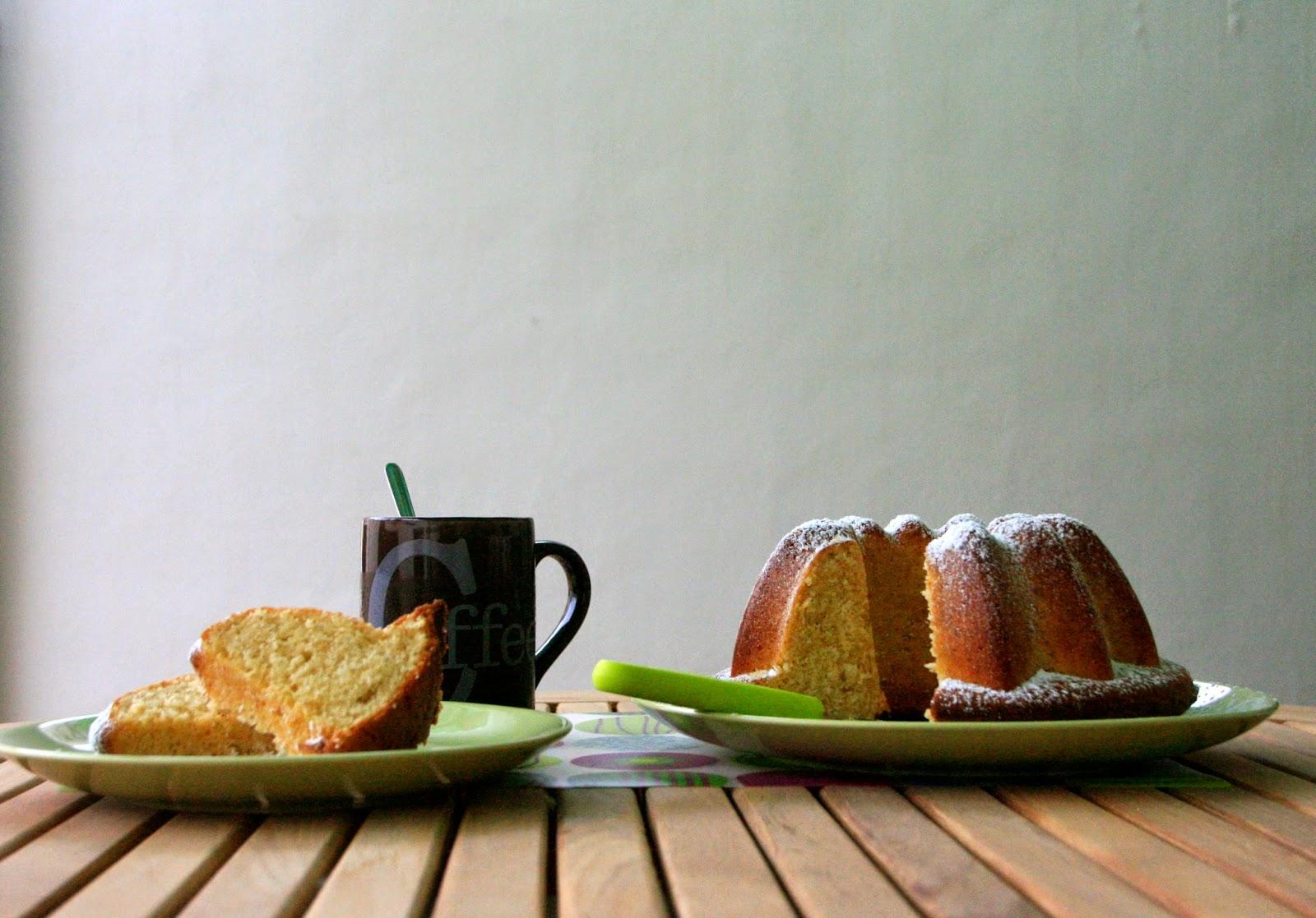 Recepta de bundt cake de nata per esmorzar