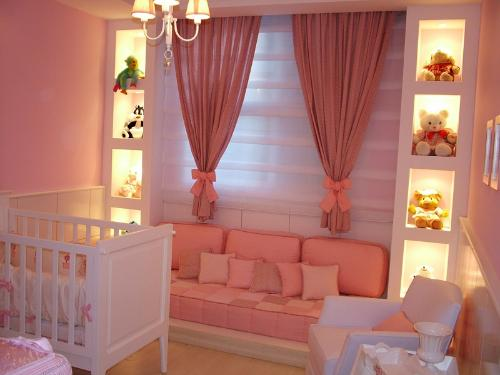 Decoracao Quarto De Bebe Rosa Seco ~ Decora??o de Quartos Para Beb? Menina  Cantinho da Sonia