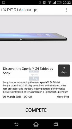 Sony Xperia Tablet Z4 Bakal Diungkap 3 Maret