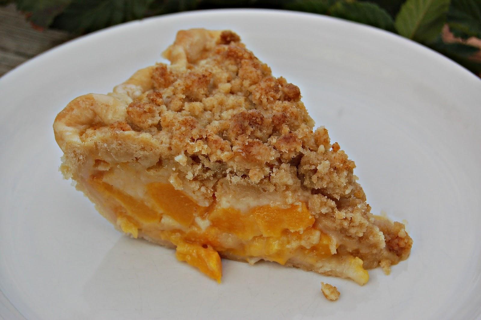 bouffe e bambini: Peach Crumble Top Pie