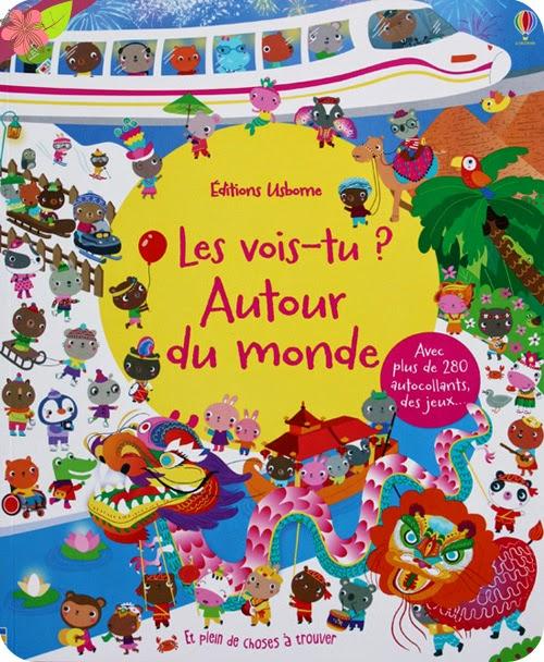 """""""Les vois-tu ? Autour du monde"""" - éditions Usborne"""