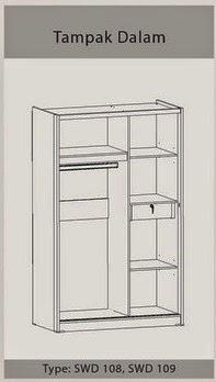 Tampak Dalam Lemari Pakaian Sliding SWD 109 Benefit Furniture