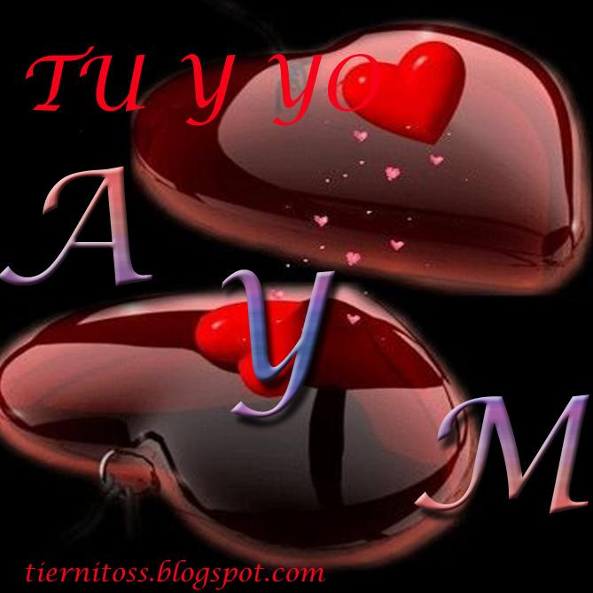 Imagenes de corazones en san valentin con iniciales Para