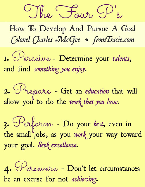 The Four P's How To Develop And Pursue A Goal