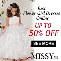 Discount to 50%OFF of new Flower Girl Dresses from MissyDress UK