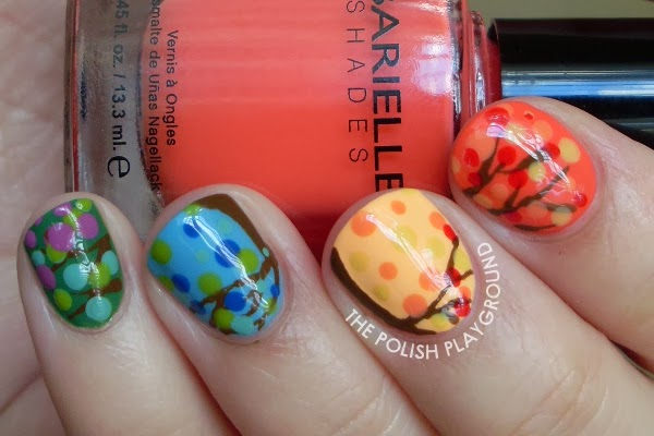 Four Seasons Tree Nail Art