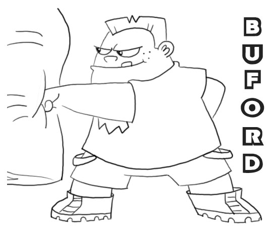 free phineas and ferb buford coloring pages